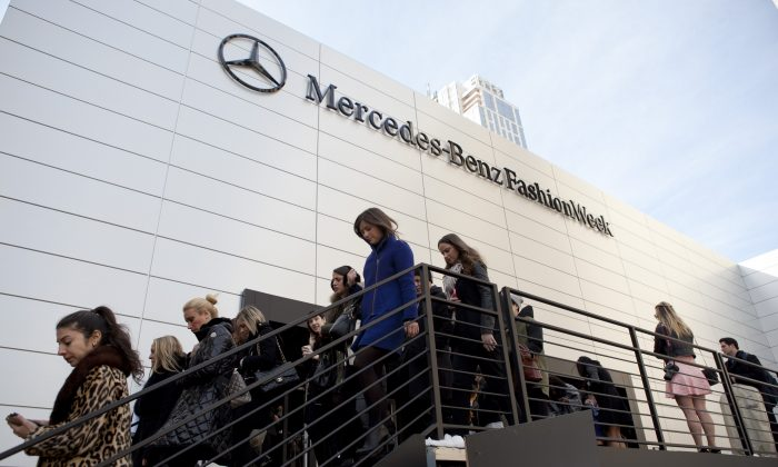 First day of New York Fashion Week at Lincoln Center. (Samira Bouaou/Epoch Times)