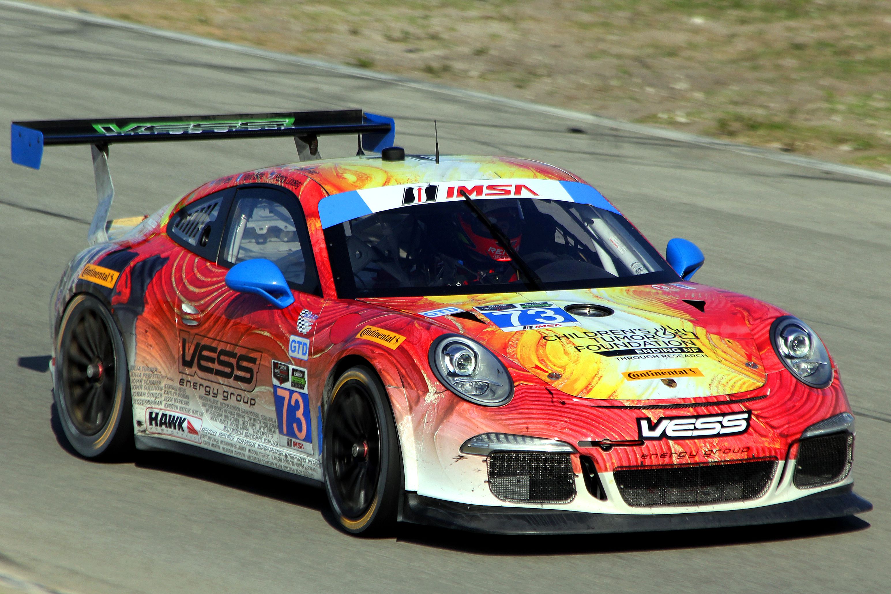 Quickest in GTD was the #73 Park Place Porsche 911 GT America. (Chris Jasurek/Epoch Times)