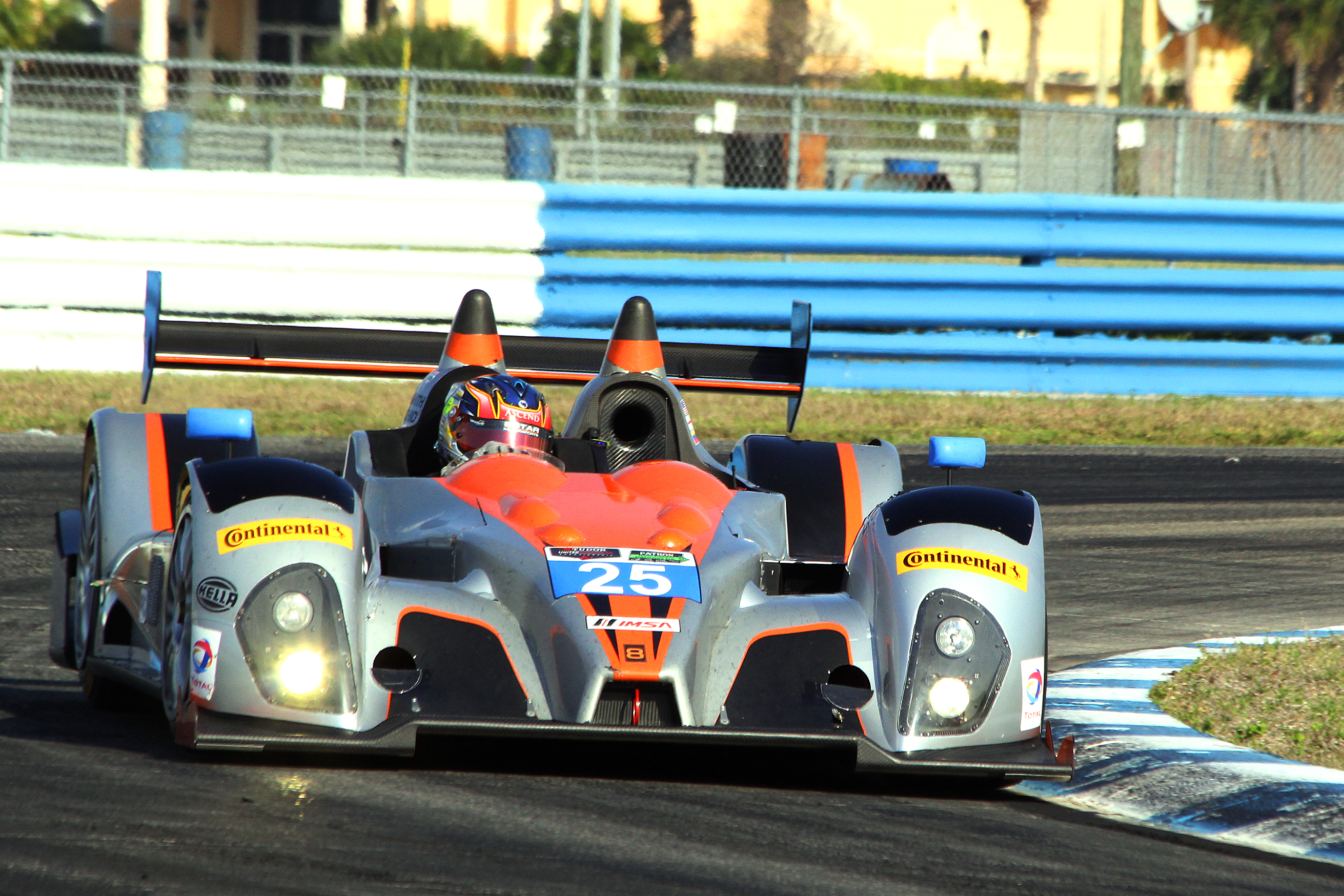 The #25 8Star PC Oreca-Chevrolet was quickest in class in both sessions and ended up off track in both sessions. (Chris Jasurek/Epoch Times)