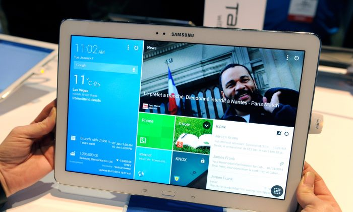 A look at Samsung's Magazine UX. (David Becker/Getty Images)