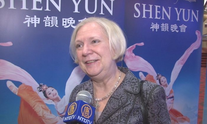 Ann Easterling was captivated by Shen Yun Performing Arts the Birmingham Jefferson Convention Complex (BJCC) Concert Hall on Feb. 1. (Courtesy of NTD Television)