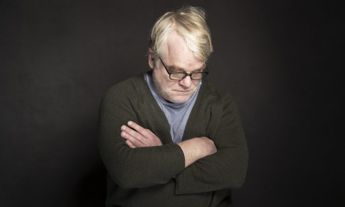 "Philip Seymour Hoffman poses for a portrait at The Collective and Gibson Lounge Powered by CEG, during the Sundance Film Festival, in Park City, Utah. Hoffman, who won the Oscar for best actor in 2006 for his portrayal of writer Truman Capote in ""Capote,"" was found dead Sunday, Feb. 2, 2014, in his New York apartment. He was 46. (Photo by Victoria Will/Invision/AP)"