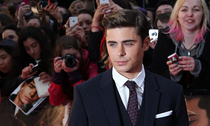 Zac Efron arrives for the European Premiere of 'The Lucky One', in London in this 2012 file photo. Efron is among the actors being considered for Star Wars Episode VII. (AP Photo/Joel Ryan)