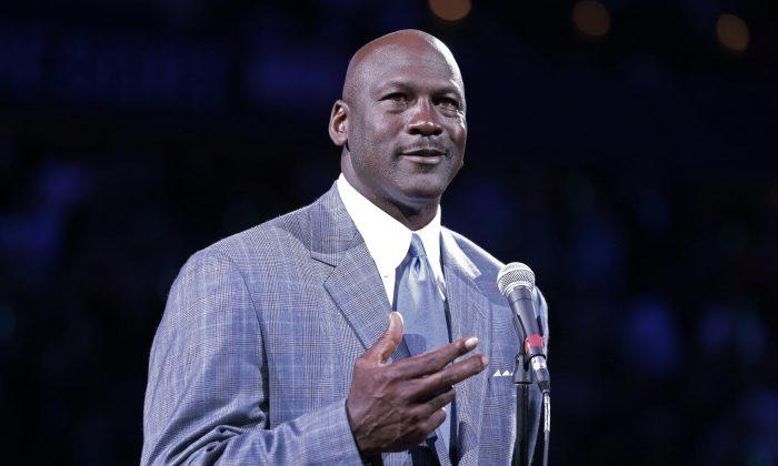 Charlotte Bobcats majority owner Michael Jordan in a 2013 file photo. (AP Photo/Chuck Burton)