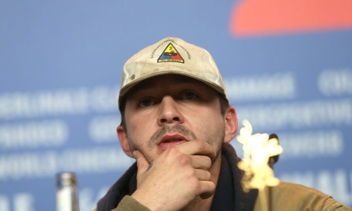 Shia LaBeouf attends the press conference for the film Nymphomaniac during the 64th Berlinale International Film Festival on Sunday Feb. 9, 2014, in Berlin. (Joel Ryan/Invision/AP)
