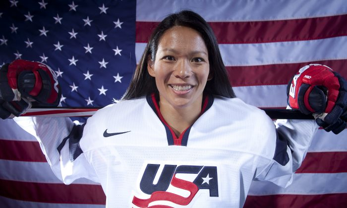 United States Olympic Winter Games Hockey player Julie Chu poses for a portrait at the 2013 Team USA Media Summit on Wednesday, October 2, 2013 in Park City, UT. (AP Photo/Carlo Allegri)