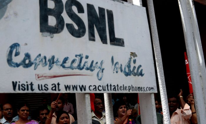 Indian government has noticed an incident of alleged hacking of its telecom network, BSNL by the Chinese company Huawei and ordered an inquiry. (Dibyangshu Sarkar/AFP/Getty Images)