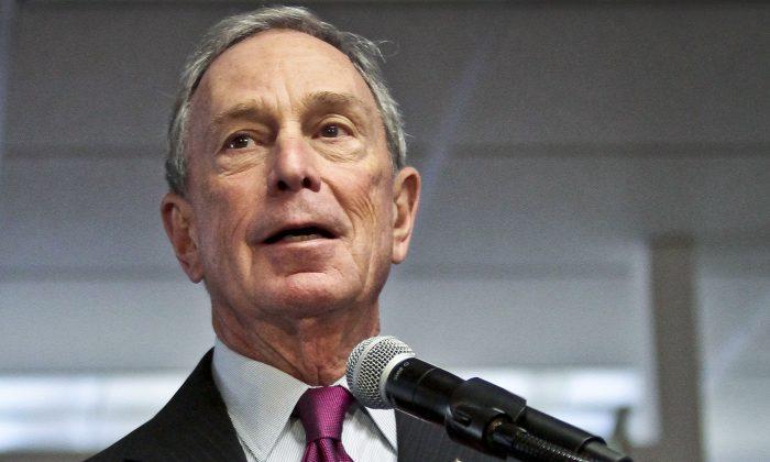 Former New York mayor Michael Bloomberg speaks in New York, Dec. 18, 2013. (AP Photo/Bebeto Matthews, File)