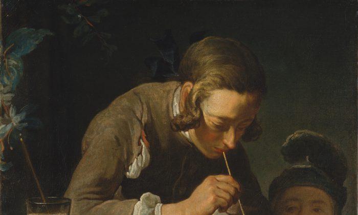 "1: ""Soap Bubbles,"" ca. 1733–34, by Jean Siméon Chardin (French, 1699–1779) (Courtesy of The Metropolitan Museum of Art)"