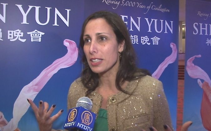 Donna Francavilla attends Shen Yun Performing Arts at Birmingham's BJCC Concert Hall, on Feb. 1. (Courtesy of NTD Television)