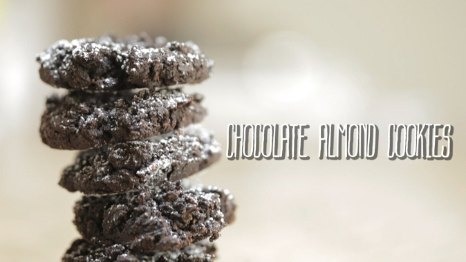 Tasty and easy to do chocolate almond cookies. (Courtesy of Food Ease)