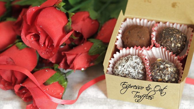 Espresso & Oat Truffles, a perfect gift for Valentine's. (Courtesy of Food Ease)