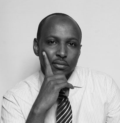 """Farhan Hassan, 39, freelance researcher, from Somalia, based in London: """"With the support of all stakeholders, Samba-Panza can sow the seeds of reconciliation such as fairness, justice, mercy, and most importantly restoring law and order in CAR and the region."""" (Courtesy of Farhan Hassan)"""