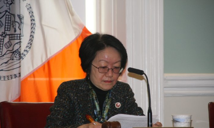 New York Council member Margaret Chin, chair of the Committee. (Epoch Times)