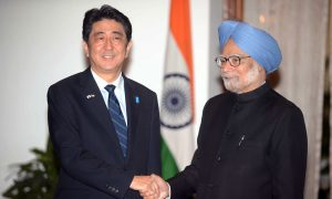 China's Rise Leads India and Japan to Wary Embrace