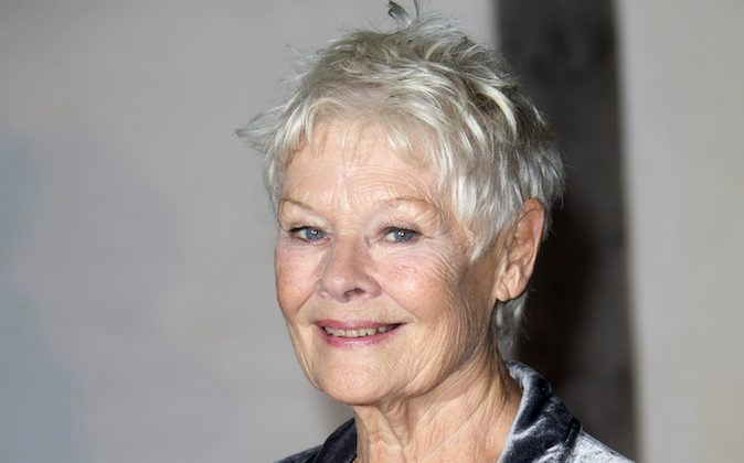 "This Oct. 17, 2013 file photo shows British actress Judi Dench at the Globe Theatre in central London, for a Gala evening. Dench was nominated for an Academy Award for best actress on Thursday, Jan. 16, 2014, for her role in ""Philomena."" The 86th Academy Awards will be held on March 2. (Photo by Joel Ryan/Invision/AP)"