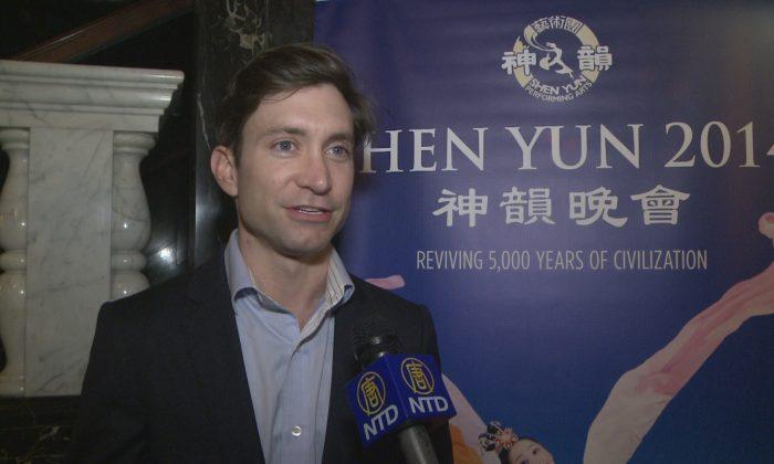 Kirk Gagnon enjoyed Shen Yun Performing Arts at the Saenger Theatre on Tuesday, Feb. 18. (NTD Television)