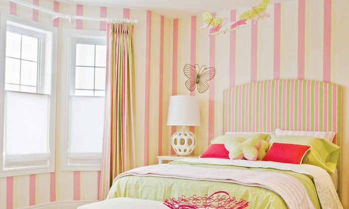 Play with texture and colour as much as you can when choosing materials and furnishings for your child's room. (Luc Crawford Design)