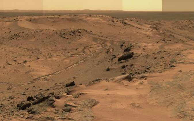 A Martian landscape. (NASA)