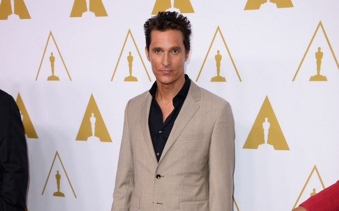 Matthew McConaughey arrives at the 86th Oscars Nominees Luncheon, on Monday, Feb., 10, 2014 in Beverly Hills, Calif. (Photo by Jordan Strauss/Invision/AP)