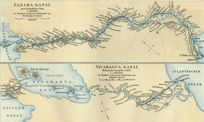 Not a new idea, as this map from 1885 shows, but no less controversial. Meyers Konversationslexikons