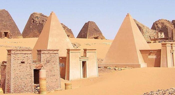 Nubian pyramids built about 100 B.C. to 150 A.D. (Wikimedia Commons)