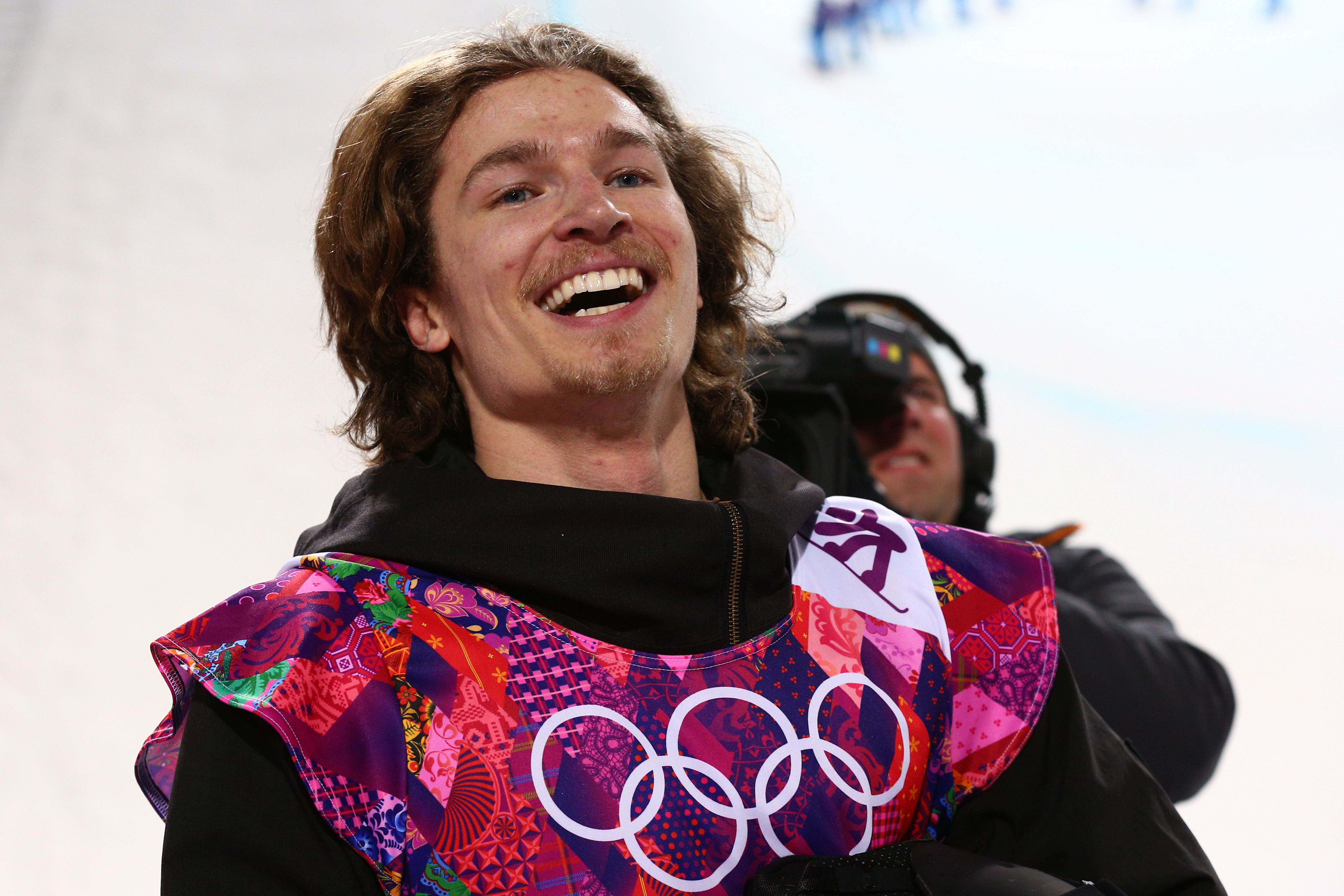 Iouri Podladtchikov of Switzerland celebrates after competing in the Snowboard Men's Halfpipe Finals on day four of the Sochi 2014 Winter Olympics at Rosa Khutor Extreme Park on February 11, 2014 in Sochi, Russia. Cameron Spencer/Getty Images)