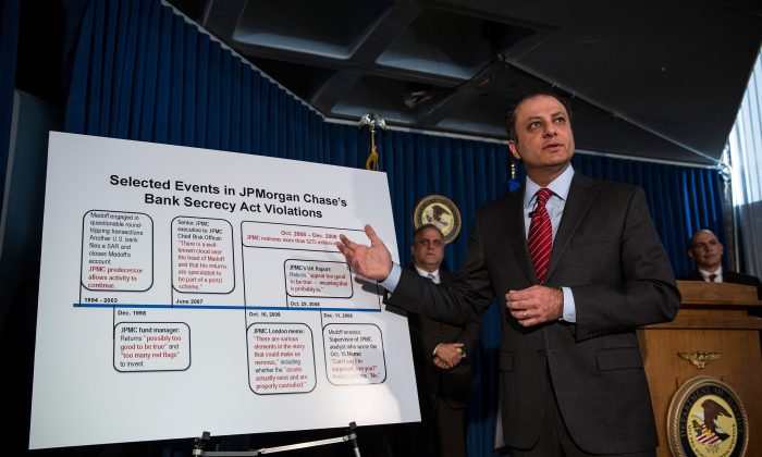 Preet Bharara, United States attorney for the Southern District of New York, speaks at a press conference in New York on Jan. 7, 2014. (Andrew Burton/Getty Images)