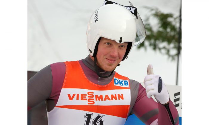 A file photo of Martins Rubenis at the Luge World Cup. (Ilmars Znotins/AFP/Getty Images)