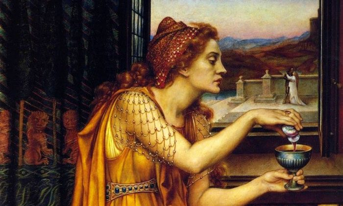 The Love Potion, painted in 1903 by Evelyn De Morgan (1855–1919). (Wikimedia Commons)