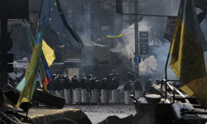 Is Ukraine slipping towards civil war? (AP Photo/Sergei Chuzavkov)