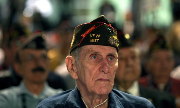 A U.S. veteran and member of Veterans of Foreign Wars (VFW) attends an event in Reno, Nevada in July 2012. Veterans and active service members in the VFW are being spied on by China. (Justin Sullivan/Getty Images)