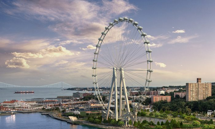 A rendering of The New York Wheel. (Courtesy of The New York Wheel)