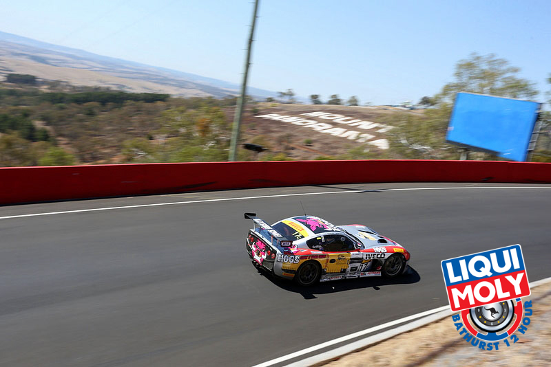The #17 Griffith Corporation Ginetta G50 has been leading Class C throughout the race. (bathurst12hour.com.au)