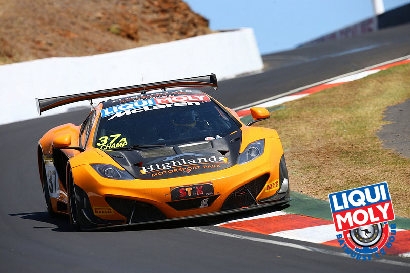 Shane Van Gisebergen set a new lap record in the #37 VIP McLaren but couldn't find that same speed in the final stint. (bathurst12hour.com.au)