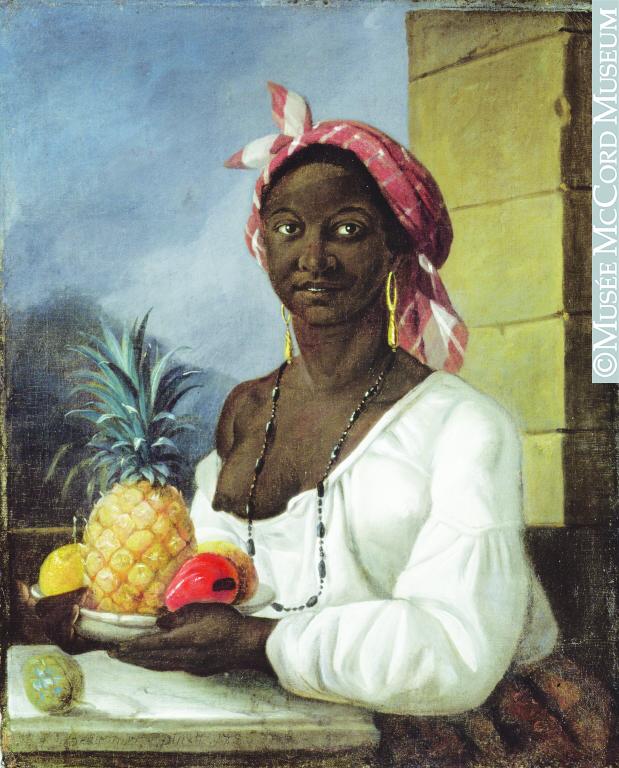 This rare painting of a slave by Canadian artist François Malépart de Beaucourt, titled