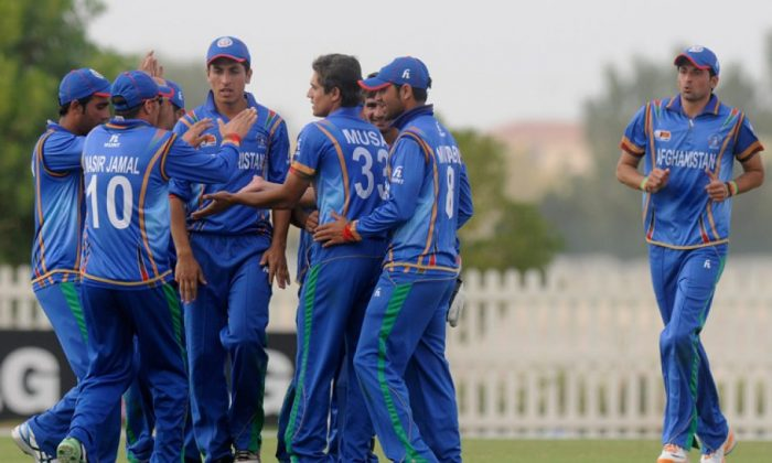 Afghanistan celebrates beating Australia in the U19 World Cup. (ICC-Cricket)