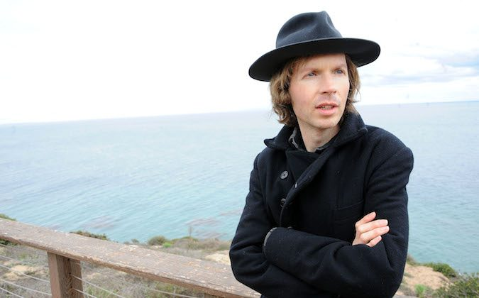 Musician Beck poses for a portrait at his home on Friday, Dec. 14, 2012, in Malibu, Calif. (Katy Winn/Invision/AP)
