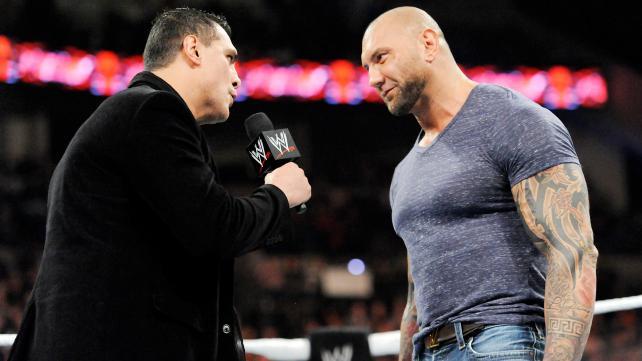 Alberto Del Rio, left, and Batista. (WWE.com)