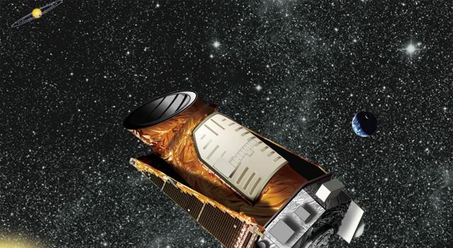 An artists rendering of NASA's planet-seeking Kepler telescope. (NASA)