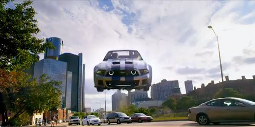"A screenshot from the first movie trailer for ""Need for Speed,"" that played during Super Bowl 48."