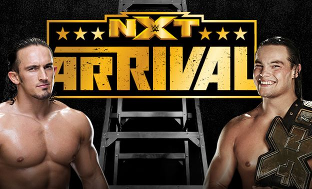 Adrian Neville, left, is the new NXT Championship title holder after beating Bo Dallas in the NXT Arrival ladder match on Thursday night. (WWE.com)