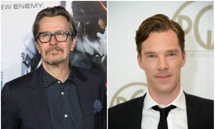 Gary Oldman and Benedict Cumberbatch are two actors connected to Star Wars Episode 7. (Paul A. Hebert/Invision/AP; Jordan Strauss/Invision for Producers Guild/AP Images)