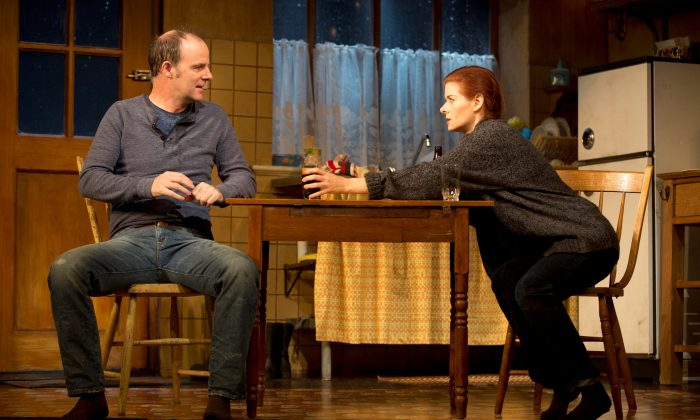Anthony Reilly (Brian F. O'Byrne) and Rosemary (Debra Messing) seem destined to be together, but are they? (Joan Marcus)
