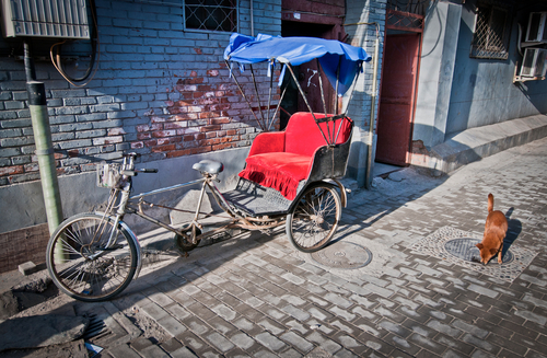A file photo of a rickshaw. A woman in Nigeria recently gave birth on a rickshaw ride. (Shutterstock*)