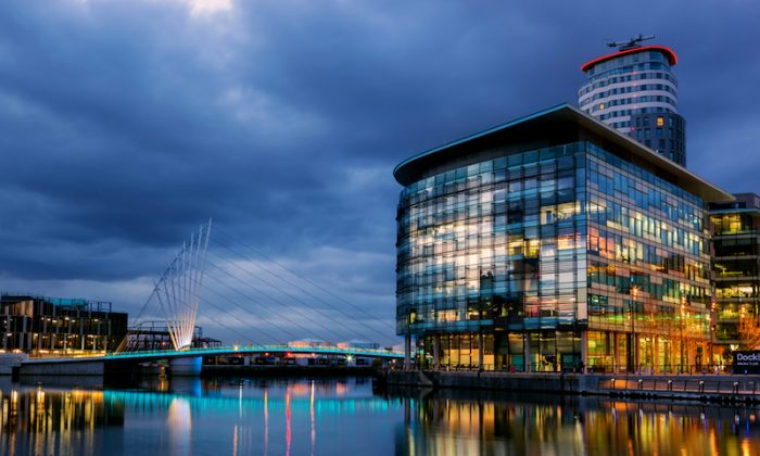 The BBC's MediaCity in Salford, UK. (Shutterstock*)