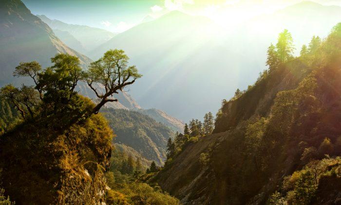 Fairy morning sunlight on beautiful Himalaya landscape. (*Shutterstock)