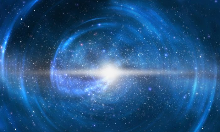 Illustration of a star exploding. Does the universe go through the same cycle of birth, life, and death that we observe on Earth and in the stars? (Shutterstock*)