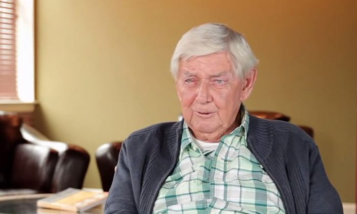 A screenshot of YouTube's INSP channel shows Ralph Waite