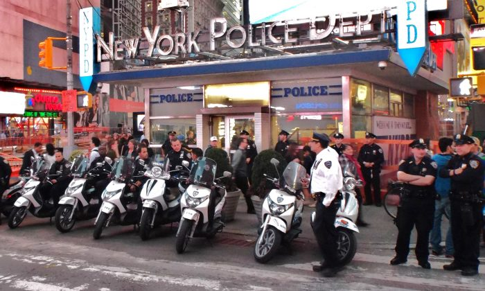 NYPD Substation Times Square. (Vincent J. Bove)